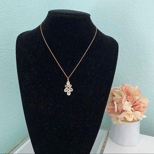 Argento Vivo clear quartz cluster necklace